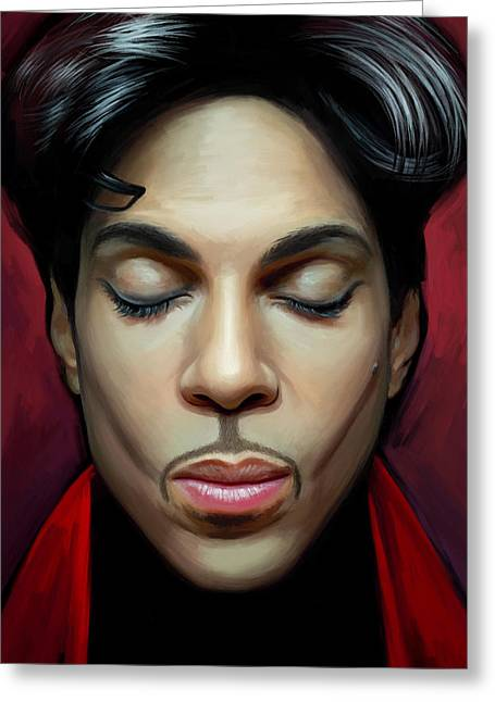 Prince Artwork 2 Greeting Card by Sheraz A
