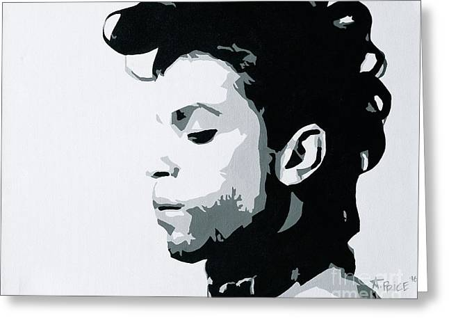 Greeting Card featuring the painting Prince by Ashley Price