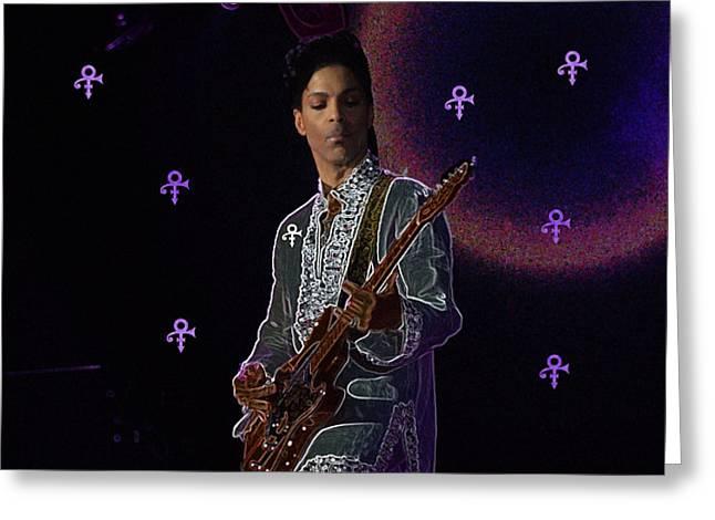 Prince At Coachella Greeting Card