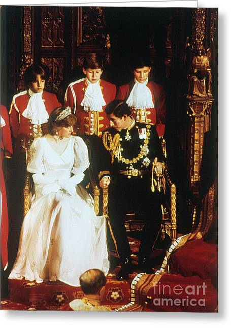 Prince Charles And Diana Greeting Card by Granger