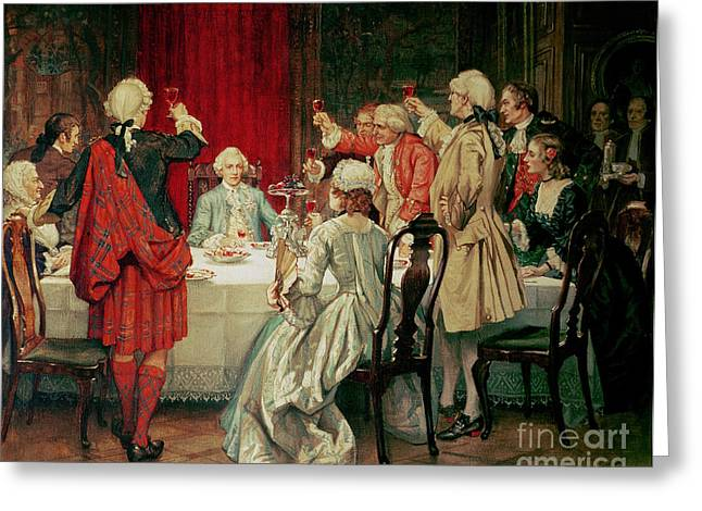 Prince Charles Edward Stuart In Edinburgh Greeting Card by William Brassey Hole