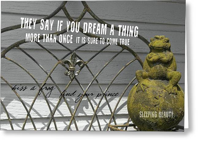 Prince Charming Quote Greeting Card by JAMART Photography