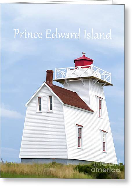 Prince Edward Island Lighthouse Poster Greeting Card