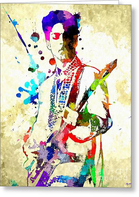 Prince In Concert Greeting Card by Daniel Janda