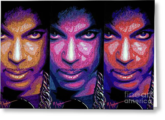 Prince Greeting Card by Maria Arango