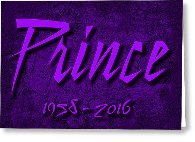 Prince Memorial Greeting Card