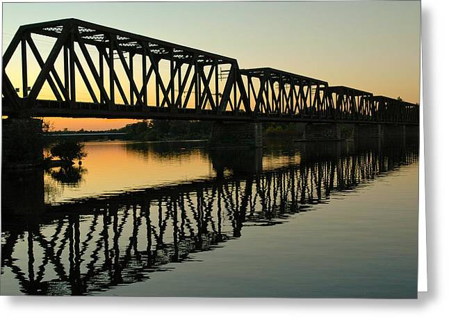 Prince Of Wales Bridge At Sunset. Greeting Card