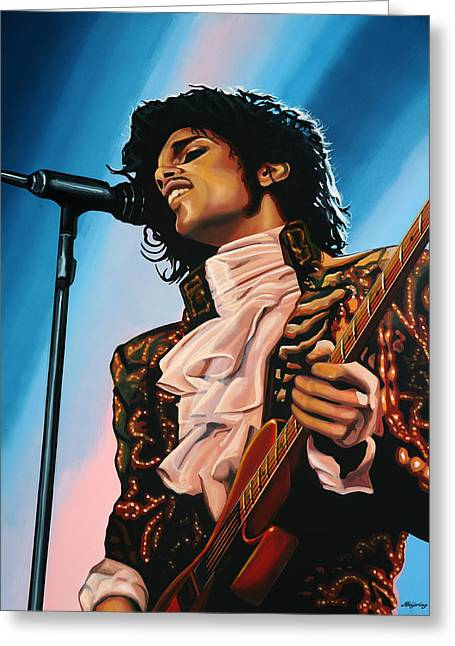 Prince Painting Greeting Card
