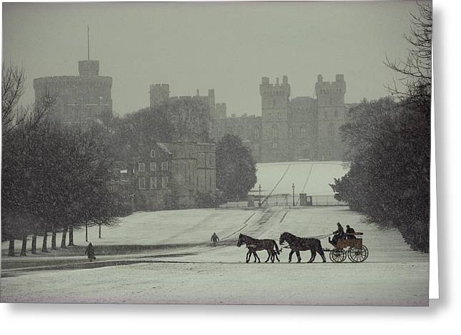 Prince Philip Of England Drives A Coach Greeting Card by James L Stanfield