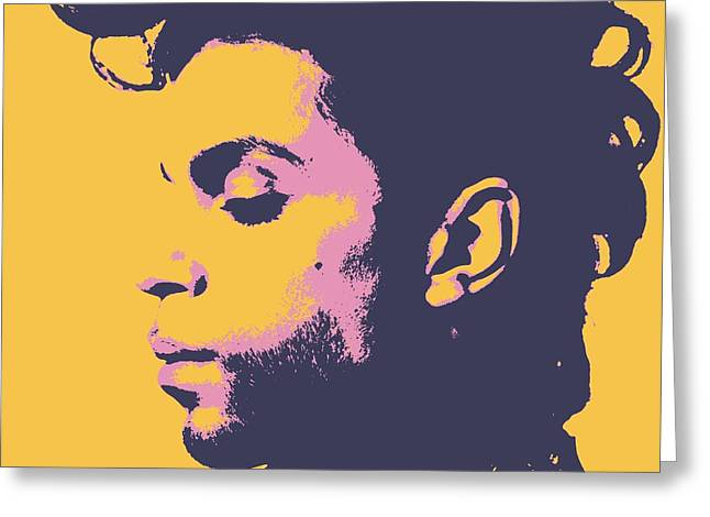 Prince Pop Art Greeting Card