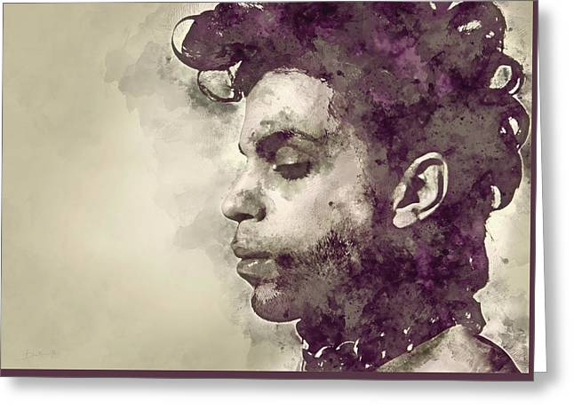 Prince, Portrait Greeting Card by Dante Blacksmith