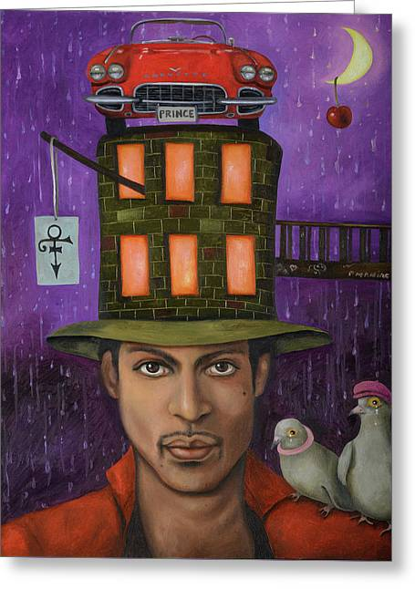Prince Pro Image Greeting Card by Leah Saulnier The Painting Maniac