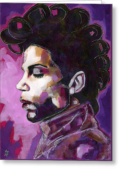 Prince Purple King Greeting Card by KM Paintings