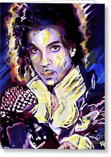 Prince Purple Rain Art Greeting Card