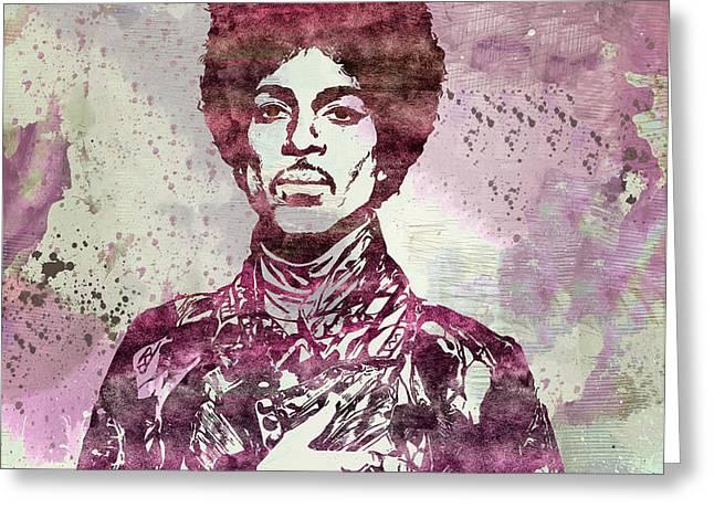 Prince - Purple Rain Greeting Card by - BaluX -
