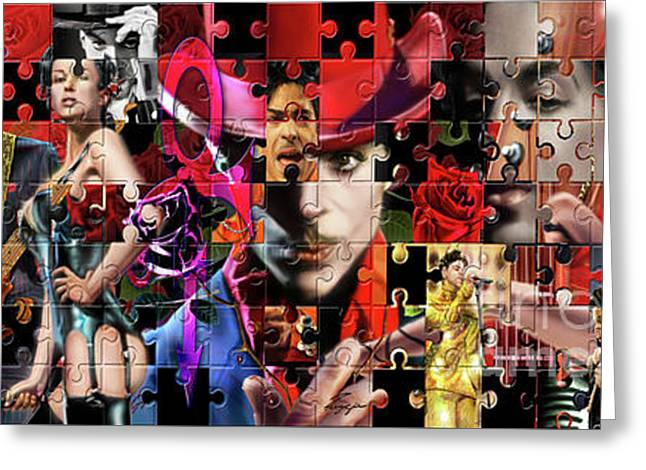 Prince Puzzle Of Missing Pieces 1 Greeting Card by Reggie Duffie