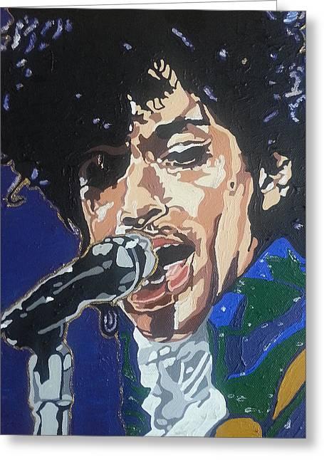 Prince Greeting Card by Rachel Natalie Rawlins