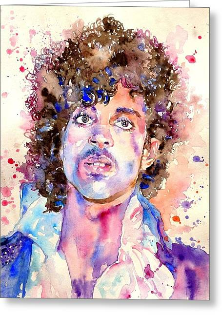 Prince Rogers Nelson Watercolor Greeting Card