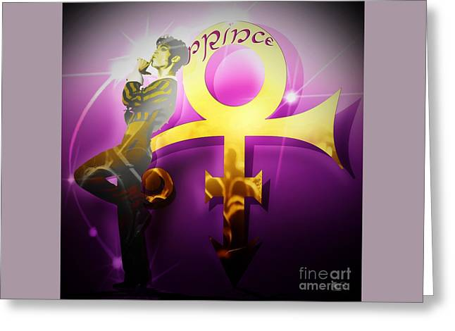 Prince - Silence Greeting Card by LDS Dya