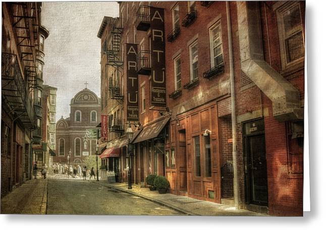 Prince St. - North End Boston Greeting Card