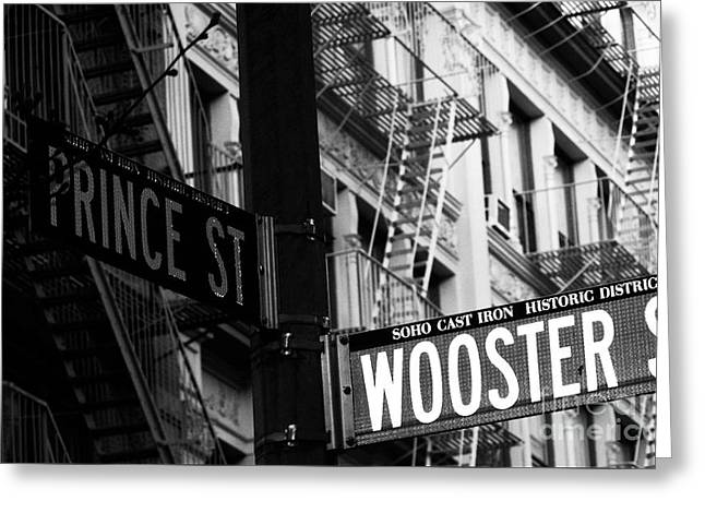 Prince St Wooster St Greeting Card