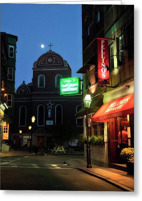 Prince Street And North Square - North End - Boston Greeting Card
