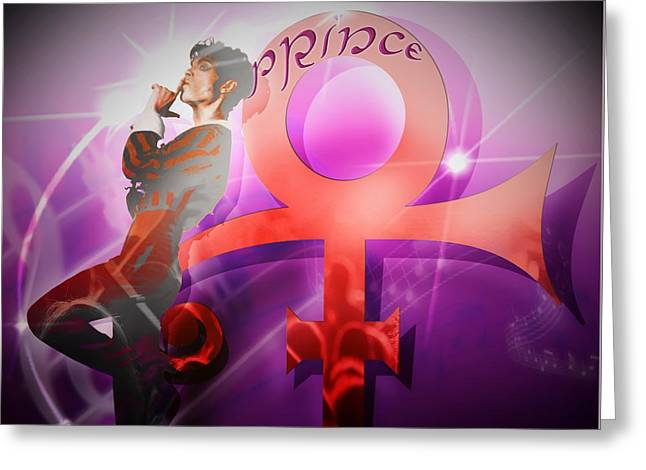 Prince - The Legend / The Mystery Greeting Card by LDS Dya