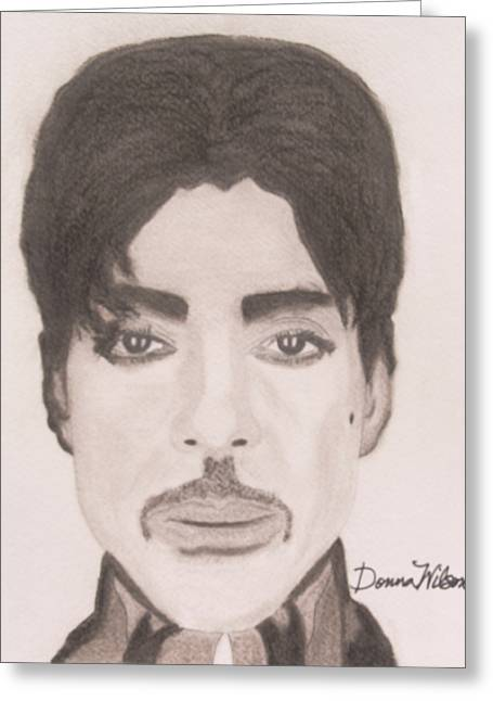 Prince The Singer Greeting Card by Donna Wilson