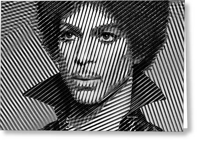 Prince - Tribute In Black And White Sketch Greeting Card
