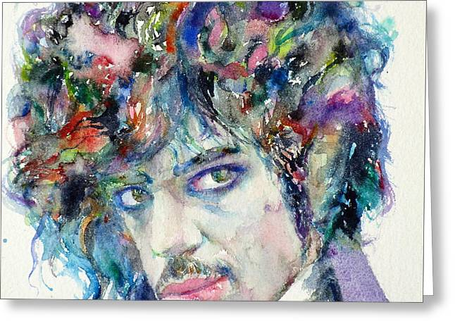 Prince - Watercolor Portrait Greeting Card by Fabrizio Cassetta