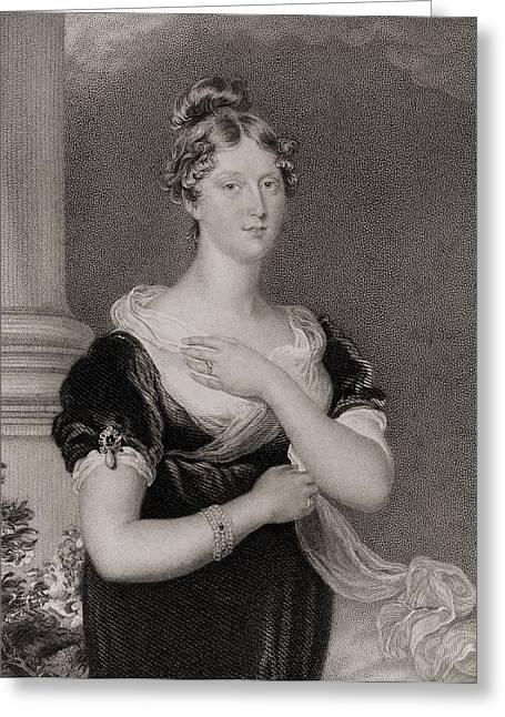 Princess Charlotte Caroline Greeting Card by Vintage Design Pics