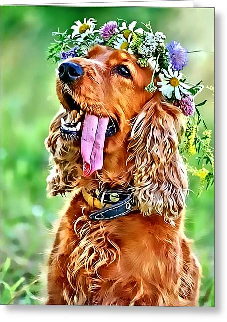 Princess Daisy Greeting Card by Kathy Tarochione