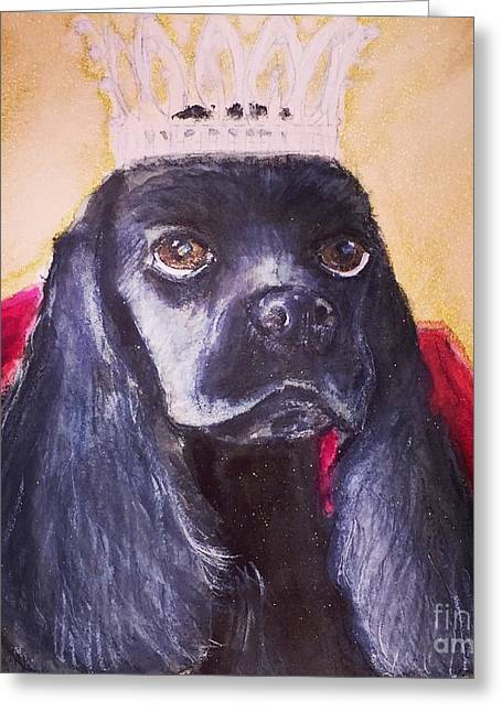 Princess Dee Dee Greeting Card by Debra Lampert-Rudman