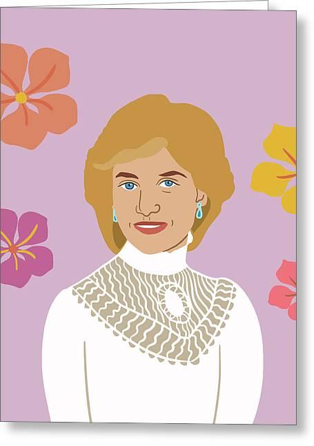 Princess Diana Greeting Card by Nicole Wilson