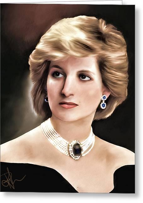 Greeting Card featuring the digital art Princess Diana by Pennie  McCracken