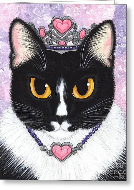 Princess Fiona -tuxedo Cat Greeting Card