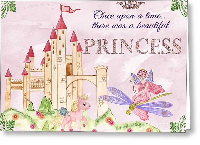 Princess-jp3584 Greeting Card by Jean Plout