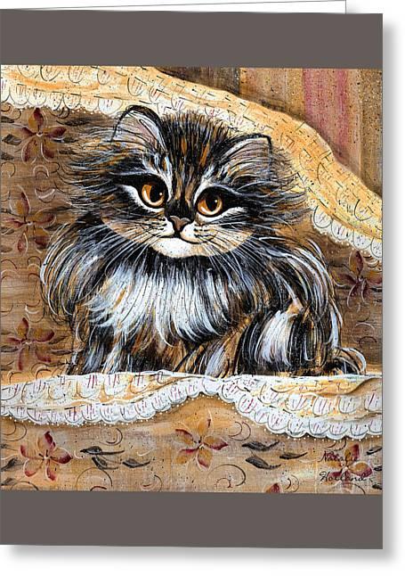 Princess Kitty Greeting Card by Natalie Holland