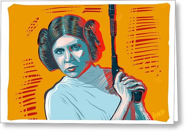 Greeting Card featuring the digital art Princess Leia by Antonio Romero