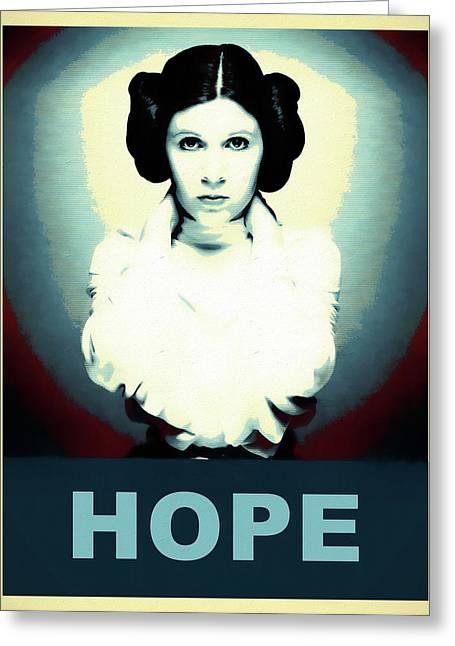 Princess Leia Hope Greeting Card