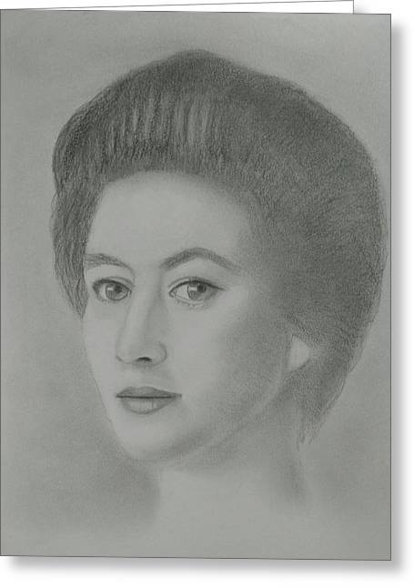 Princess Margaret Greeting Card by Paul Blackmore