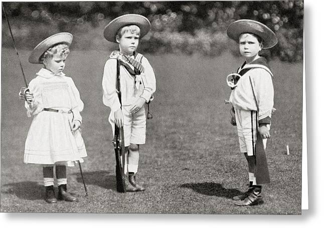 Princess Mary, Prince Edward, Later Greeting Card by Vintage Design Pics