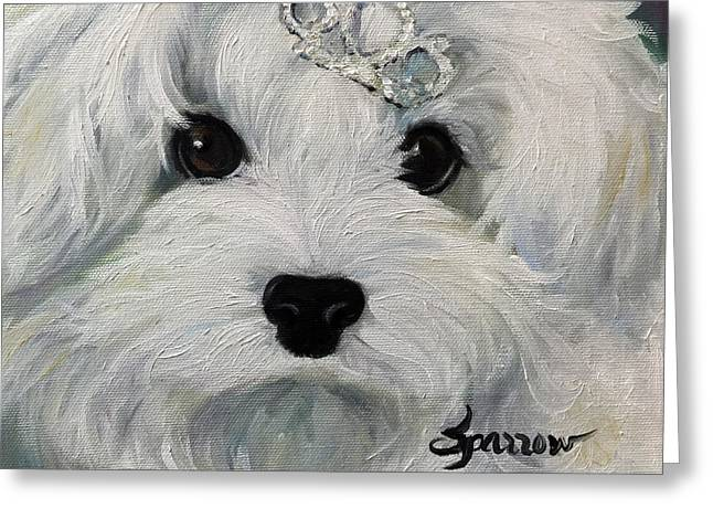 Princess Greeting Card by Mary Sparrow