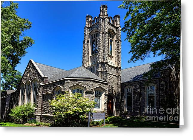Princeton United Methodist Church    Greeting Card by Olivier Le Queinec