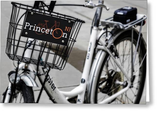 Princeton University Campus Bike Greeting Card