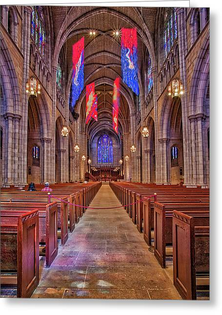 Greeting Card featuring the photograph Princeton University Chapel by Susan Candelario