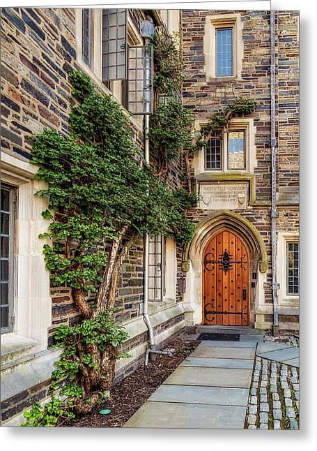 Greeting Card featuring the photograph Princeton University Foulke Hall II by Susan Candelario