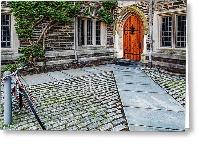 Greeting Card featuring the photograph Princeton University Foulke Hall by Susan Candelario