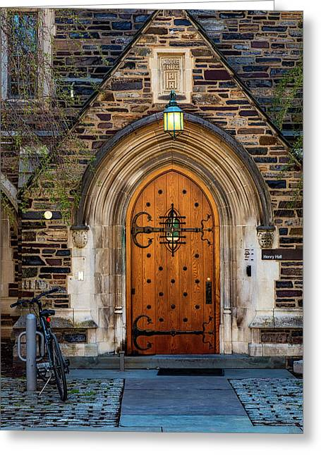 Greeting Card featuring the photograph Princeton University Henry Hall by Susan Candelario