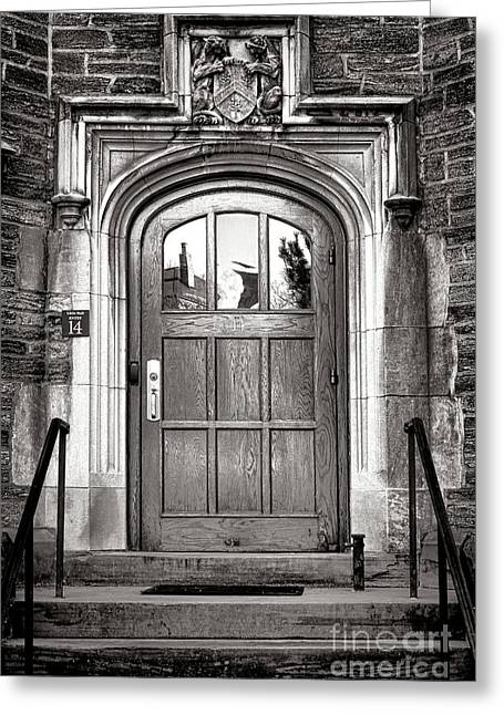 Princeton University Little Hall Entry Door Greeting Card